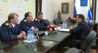 Главе Тувы представлен новый руководитель следственного управления СКР по республике
