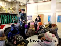 Пожарные Кызыла провели экскурсию для учащихся городской средней школы №7