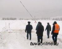 В Туве открыта третья ледовая переправа