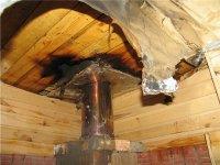 В Кызыле частный дом загорелся из-за неправильной эксплуатации печи