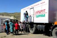 Автопоезд тувинских врачей «Маршрут здоровья» доехал до оленеводов Тоджи