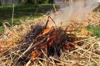 В Ак-Довураке в результате поджога мусора сгорело сено