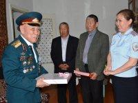Труженик тыла в годы ВОВ, ветеран пожарной охраны Борис Оюн отмечает 90-летний юбилей