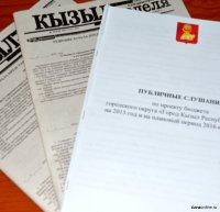 Исполнение бюджета города Кызыла обсудят на публичных слушаниях