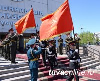 Главный военный оркестр страны после Парада Победы на Красной площади выступает в Туве