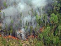 В Туве действует 10 лесных пожаров