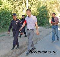 Кызыл: народные дружинники помогают в охране общественного порядка