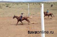 Тува. Более 400 лошадей вышли на старт скачек Наадыма-2015