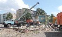 В Кызыле демонтируют киоски-нарушители