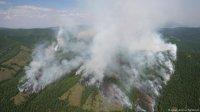 В Туве борются с лесными пожарами на территории более 4500 га