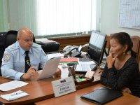 В Туве главный инспектор МВД России Эдуард Соболь провел прием граждан