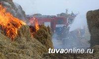 В Туве детская шалость с огнем в очередной раз привела к возгоранию сена