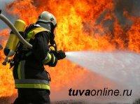В Кызыле сотрудники МЧС предотвратили взрыв газовых баллонов при пожаре