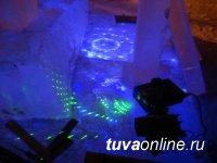 Тува: Для ледовых скульптур на Центре Азии готовят красивую  подсветку