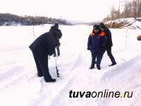 В Туве открылась «Бельбейская» ледовая переправа через реку Малый Енисей