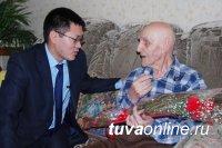 Кызыл: Фронтовику Павлу Тихонову исполнилось 103 года