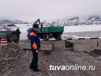 Вторую ледовую переправу закрыли в Туве