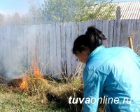 В прошедшие выходные в Туве оштрафованы 4 человека за сжигание сухой растительности на территории домовладений