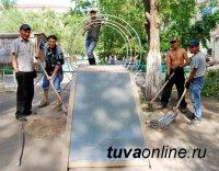 Кызыл: Детская площадка на Кочетова, 64 – пример социального партнерства