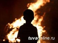 Детская шалость с огнем стала причиной пожара в Кызылском районе