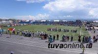 Еще одно футбольное поле с искусственным покрытием открыто в Туве - в селе Тээли