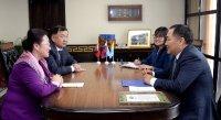 Встреча Главы Тувы с Генконсулом Монголии в Кызыле