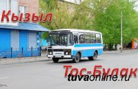 На маршрутном автобусе до юрточного городка на Тос-Булаке