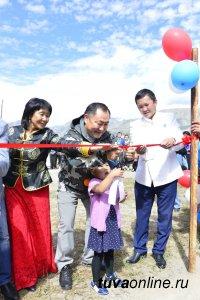 Шолбан Кара-оол запустил новые дизельные станции в труднодоступной Монгун-Тайге