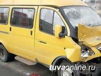 В Кызыле при столкновении трех «маршруток» пострадали пассажиры