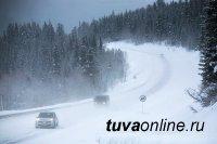 В Туве проводятся работы по очистке автомобильных дорог от снега