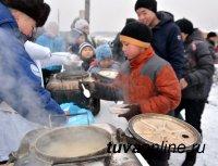 Накануне Рождества на Левобережных дачах Кызыла работала полевая кухня