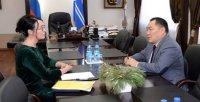 Шолбан Кара-оол обсудил с омбудсменом Тувы Ольгой Россовой задачи в сфере защиты прав человека и детей