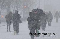 Метель и ветер до 18 м/с ожидаются в Туве