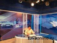 """Сегодня, в 8 ч 20 минут на телеканале """"Тыва"""" интервью Главы Тувы Шолбана Кара-оола"""