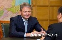 Глава Тувы встретился с министром сельского хозяйства РФ