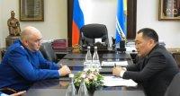 Глава Тувы встретился с претендентом на пост прокурора республики