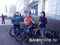 День без автомобиля: Сегодня в Кызыле на улицах прибавилось велосипедистов