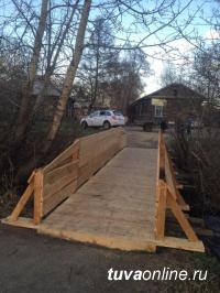 Ветхий мост к селу Сосновка отремонтирован