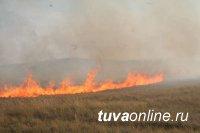 В Дзун-Хемчикском районе участковый уполномоченный полиции установил виновника степного пожара