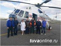 В Туве начал летать вертолет санитарной авиации