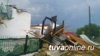 В Бурен-Хеме (Тува) от сильных порывов ветра пострадал клуб