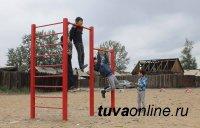 Кызыл: На месте убранной свалки жильцы обустроили площадку для занятий спортом