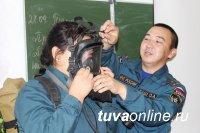 В Туве провели показательные занятия для кадетов профильного класса МЧС