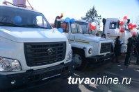 Автопарк Кызылского района пополнился коммунальной спецтехникой