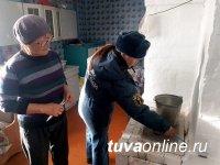 В Кызыле проходят совместные профилактические рейды сотрудников МЧС и МВД по жилому сектору