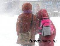 В Кызыле потеплело до 40 градусов мороза. В школу могут не ходить учащиеся 1-4 классов