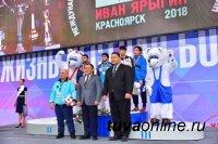 Глава Тувы и знаменитый сумоист Монголии Д.Дагвадорж стали почетными гостями международного турнира «Гран при Иван Ярыгин»