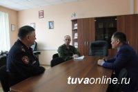 Глава Тувы обсудил с руководством регионального Отдела Росгвардии готовность к выборам
