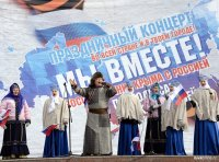 Кызыл: Митинг-концерт в честь воссоединения Крыма с Россией