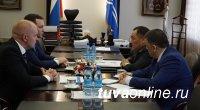 Глава Тувы встретился с новым руководством Красноярского филиала компании «Ростелеком»